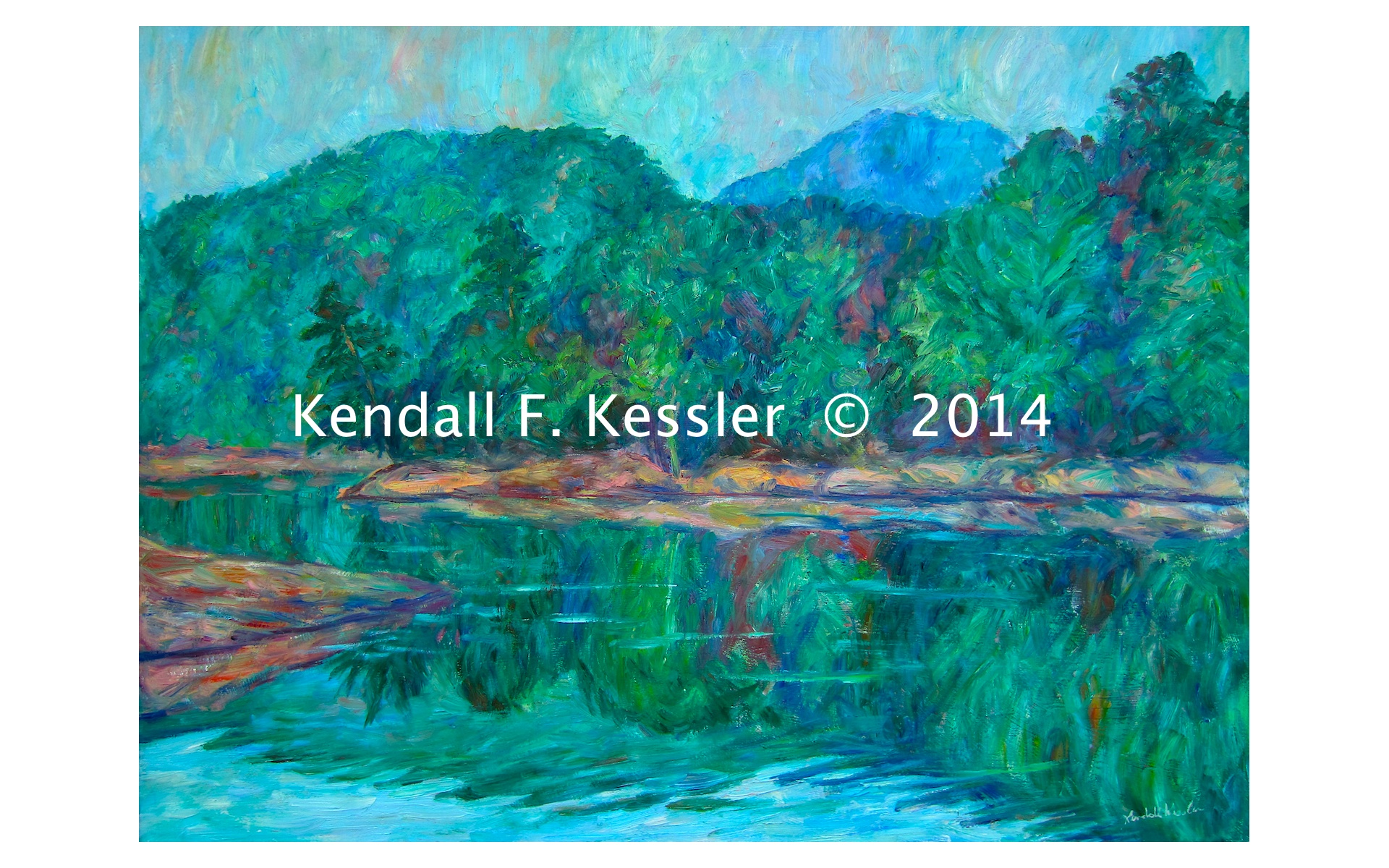 Kendall kessler lives to paint beautiful carvins cove for Carvins cove fishing