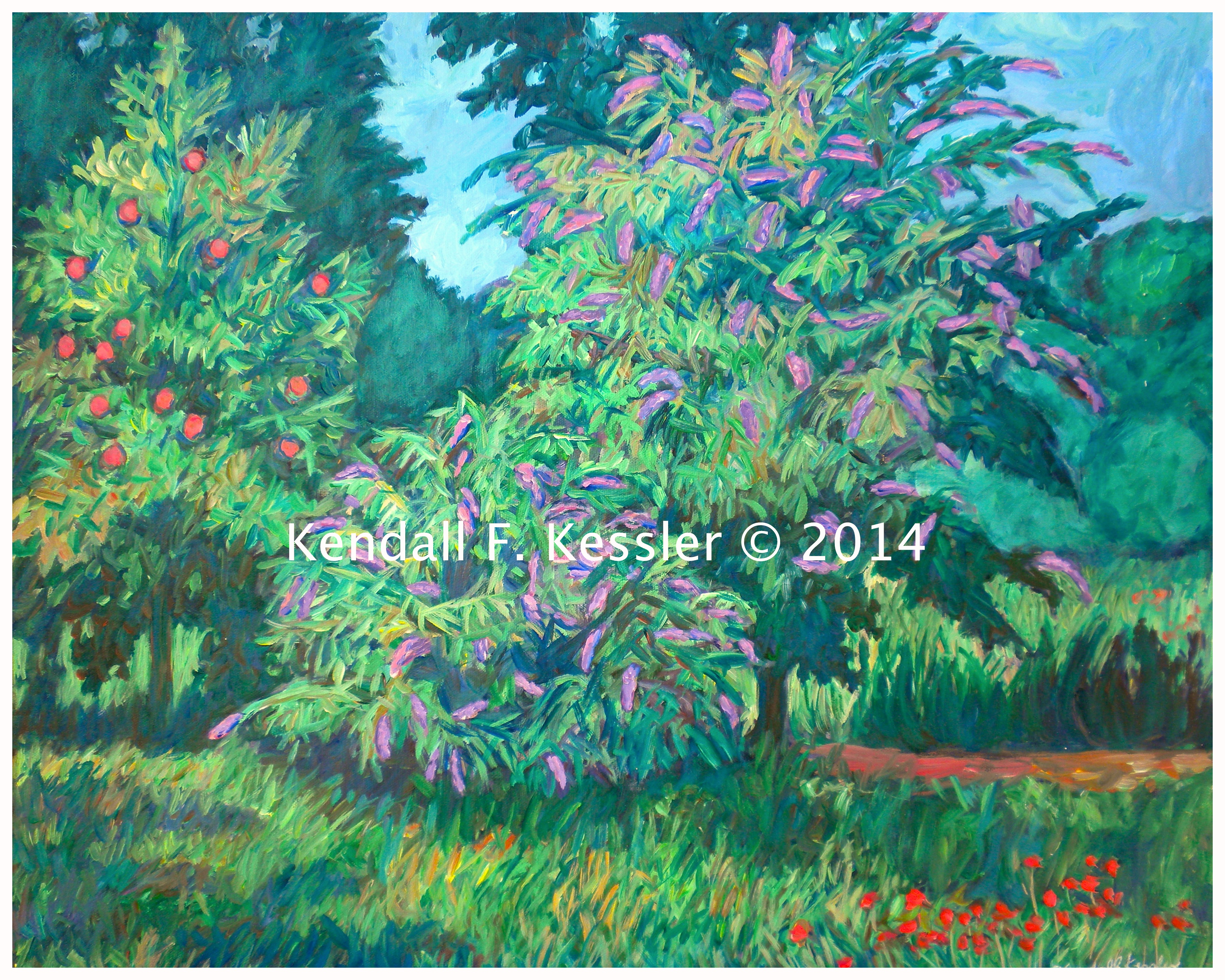 Painting Acrylic Landscapes Sped Up